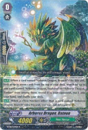 BT08/029EN (R) Arboros Dragon, Ratoon