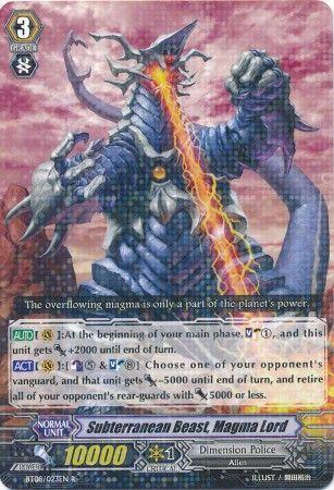 BT08/023EN (R) Subterranean Beast, Magma Lord