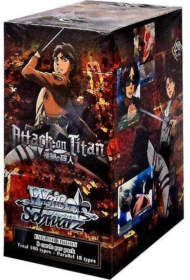 """Weiss Schwarz English Booster Box """"Attack on Titan"""" by Bushiroad"""