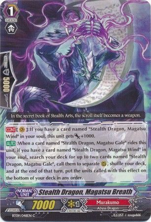 BT09/048EN (C) Stealth Dragon, Magatsu Breath