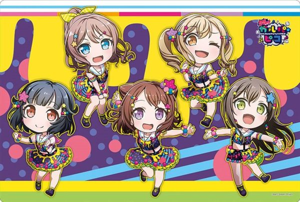 """Rubber Mat Collection """"BanG Dream! Girls Band Party! PICO (Poppin' Party Colorful Poppin!)"""" Ver.365 by Bushiroad"""