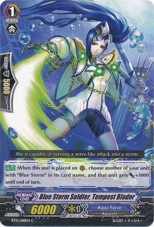 BT15/088EN (C) Blue Storm Soldier, Tempest Blader