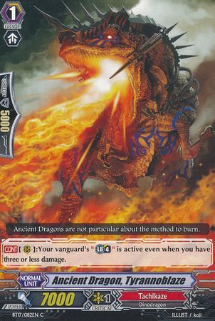 BT17/082EN (C) Ancient Dragon, Tyrannoblaze