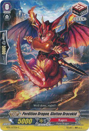 BT17/077EN (C) Perdition Dragon, Glutton Dracokid