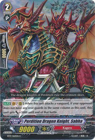 BT17/063EN (C) Perdition Dragon Knight, Sabha