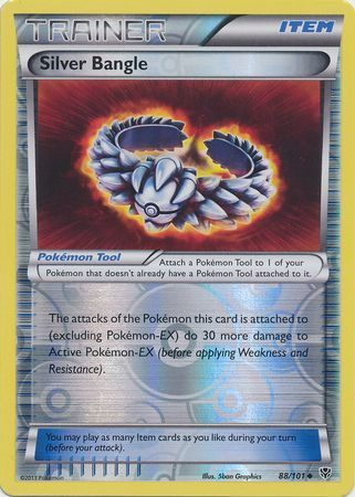 88/101 (U) Silver Bangle - Reverse Foil
