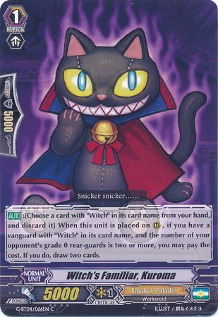 G-BT04/066EN (C) Witch's Familiar, Kuroma