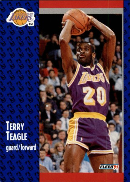 1991 FLEER #103 Terry Teagle - Standard