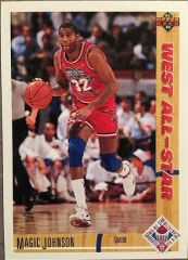 "1991 Upper Deck #57 West All-Star - Earvin ""Magic"" Johnson - Standard"