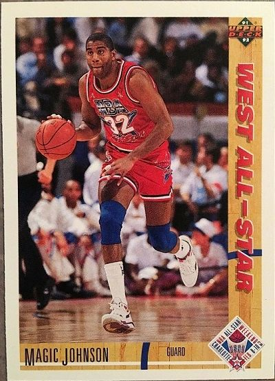 "1991 Upper Deck #57 West All-Star - Earvin ""Magic"" Johnson - Standard"