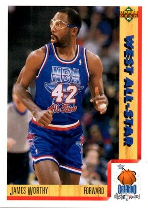 1991 Upper Deck #473 West All-Star - James Worthy - Standard