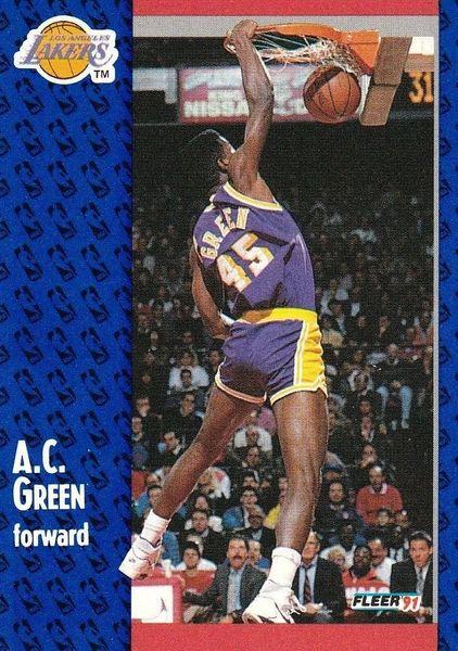 1991 FLEER #99 A.C. Green - Standard
