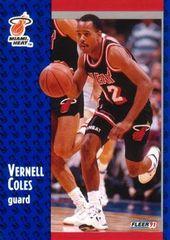 """1991 FLEER #106 Vernell """"Bimbo"""" Coles - Standard"""