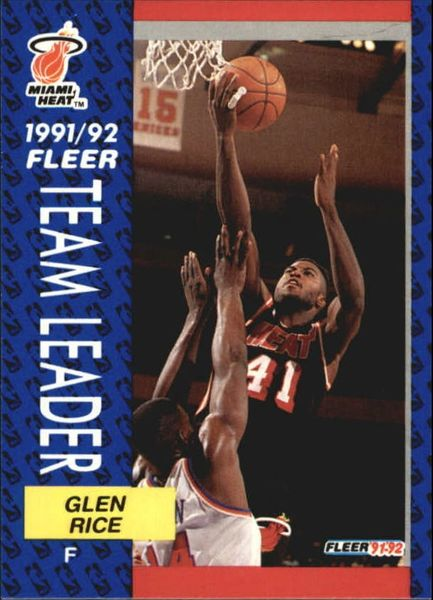 1991 FLEER #385 Glen Rice - Standard