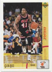 1991 Upper Deck Heat #147 Glen Rice - Standard