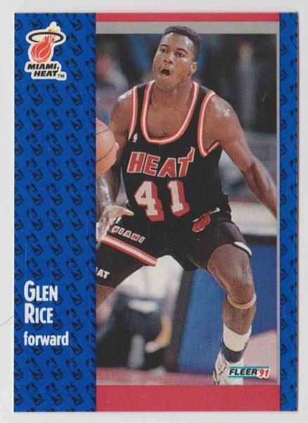 1991 FLEER #111 Glen Rice - Standard