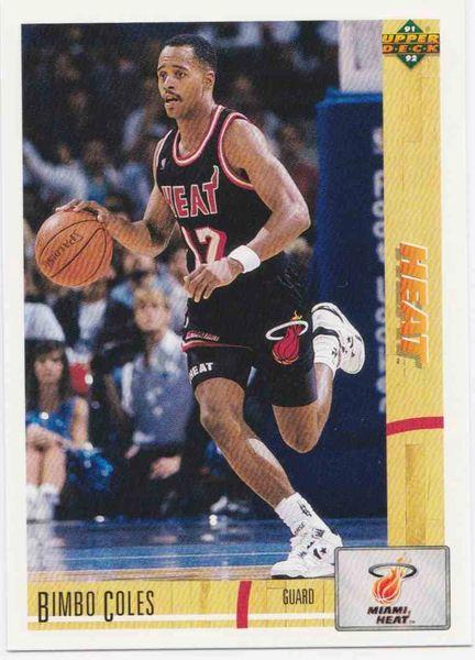 "1991 Upper Deck Heat #149 Bimbo ""Vernell"" Coles - Standard"