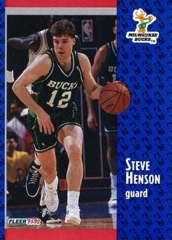1991 FLEER #313 Steve Henson - Standard