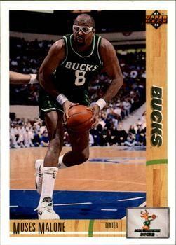 1991 Upper Deck Bucks #402 Moses Malone - Standard