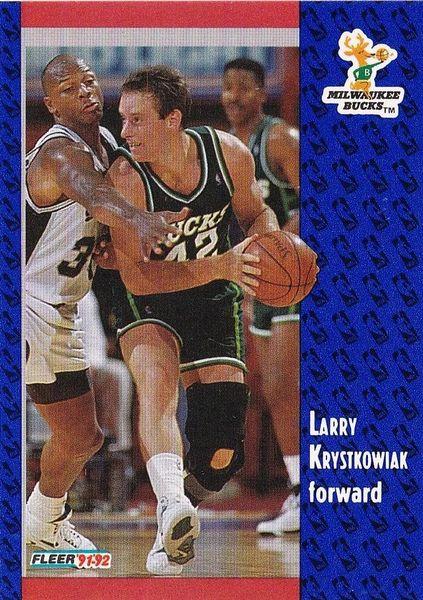 1991 FLEER #314 Larry Krystkowiak - Standard