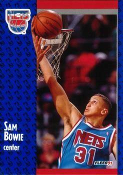 1991 FLEER #129 Sam Bowie - Standard