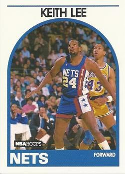 1989 NBAHoops #236 Keith Lee - Standard