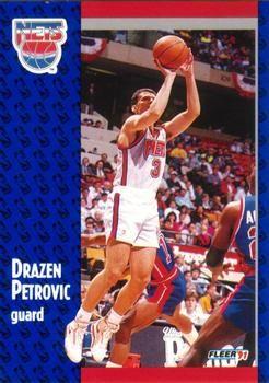 1991 FLEER #134 Drazen Petrovic - Standard