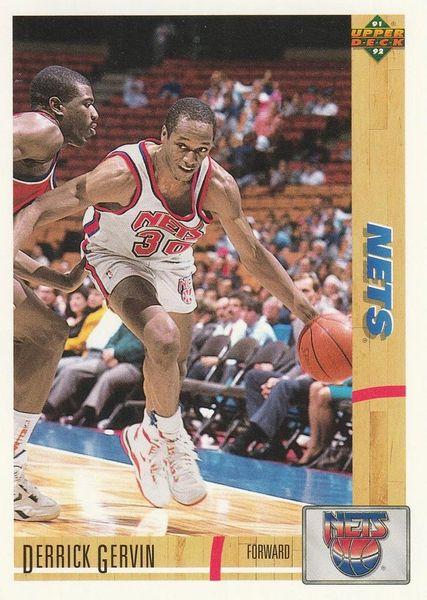 1991 Upper Deck NETS #384 Derrick Gervin - Standard