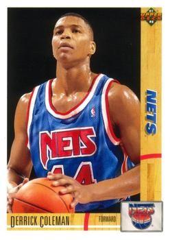 1991 Upper Deck NETS #332 Derrick Coleman - Standard