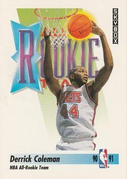 1991 SkyBox #318 Derrick Coleman - Standard