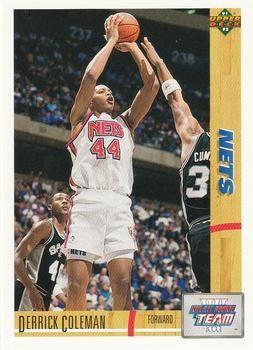 1991 Upper Deck #35 Derrick Coleman - Standard