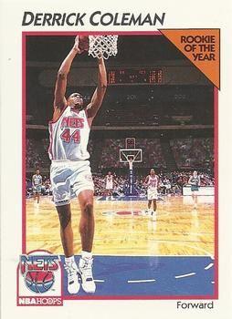 1991 NBAHoops #25 Derrick Coleman - Standard