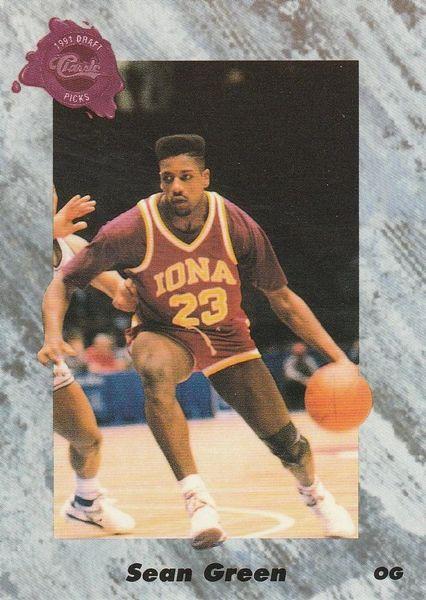 1991 Classic #179 Sean Green - Standard