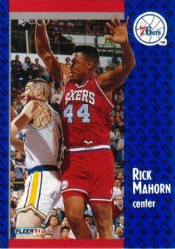 1991 FLEER #156 Rick Mahorn - Standard