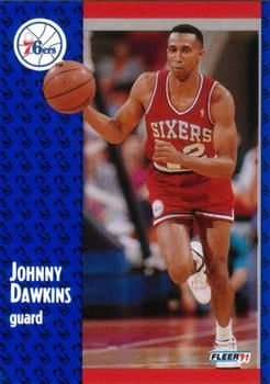 1991 FLEER #152 Johnny Dawkins - Standard