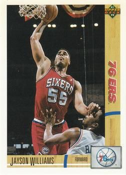 1991 Upper Deck 76ERS #191 Jayson Williams - Standard