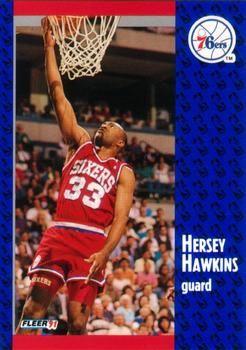 1991 FLEER #154 Hersey Hawkins - Standard