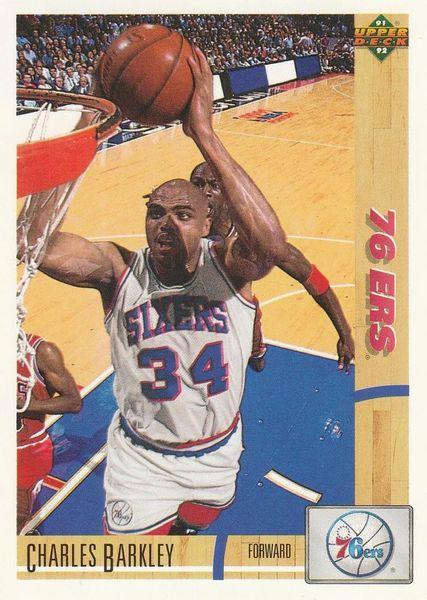 1991 Upper Deck 76ERS #345 Charles Barkley - Standard