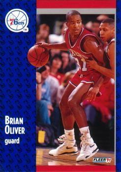1991 FLEER #157 Brian Oliver - Standard