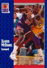 1991 FLEER #164 Xavier McDaniel - Standard