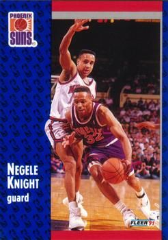 1991 FLEER #162 Negele Knight - Standard