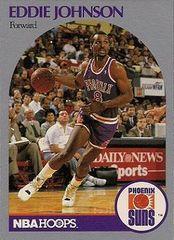 1990 NBAHoops #237 Eddie Johnson - Standard