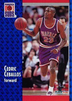 1991 FLEER #339 Cedric Ceballos - Standard