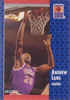 1991 FLEER #340 Andrew Lang - Standard