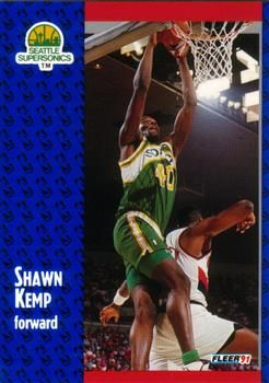 1991 FLEER #192 Shawn Kemp - Standard