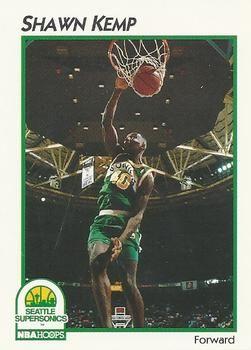 1991 NBAHoops #42 Shawn Kemp - Standard