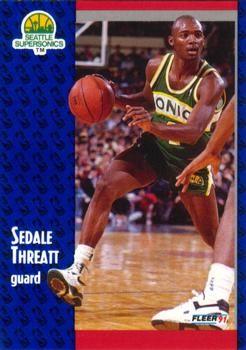 1991 FLEER #196 Sedale Threatt - Standard