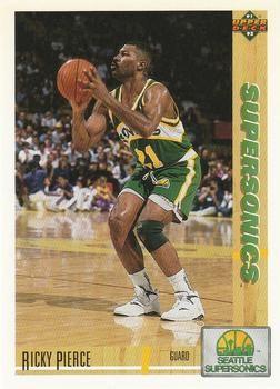 1991 Upper Deck SuperSonics #156 Ricky Pierce - Standard