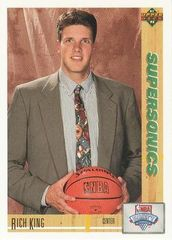 1991 Upper Deck SuperSonics #8 Rich King - Standard