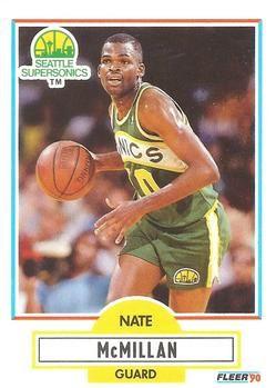 1990 FLEER #181 Nate McMillan - Standard